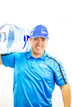 water delivery guy custom stock image company
