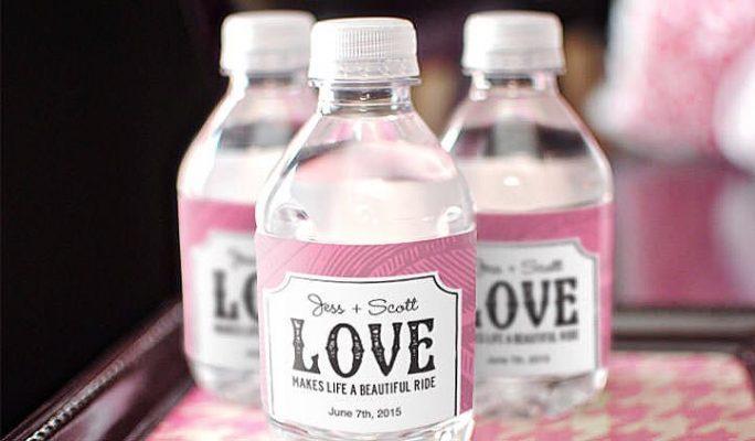 custom label bottles from wedding