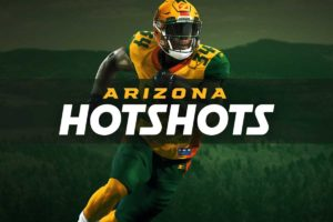 logo banner of the newly formed Arizona Hotshots football team.
