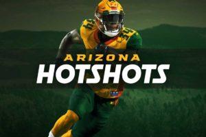 logo banner of the newly formed Arizona Hotshots football team.