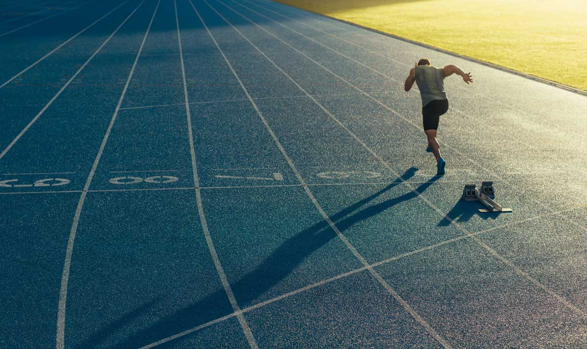 sports athletic track runner